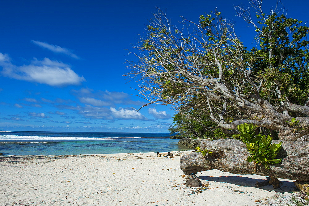 White sand beach on the north coast of Efate, Vanuatu