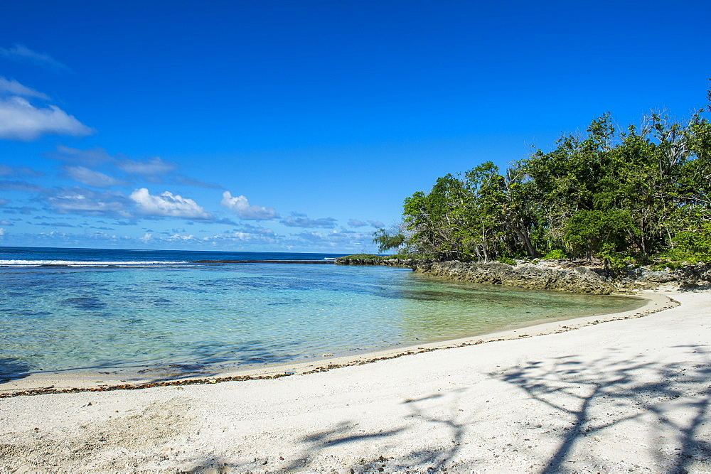 White sand beach on the north coast of Efate, Vanuatu, Pacific