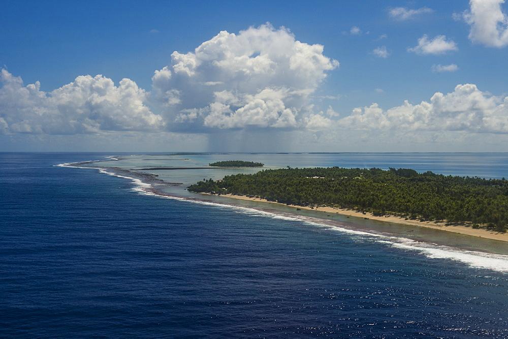 Aerial of Tikehau, Tuamotus, French Polynesia