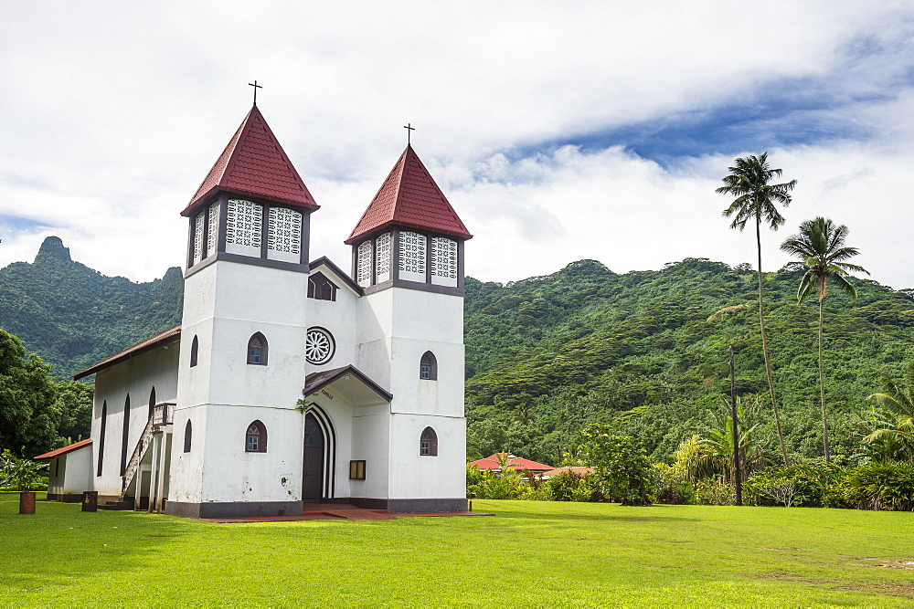 Haapiti Catholic Church, Moorea, Society Islands, French Polynesia, Pacific