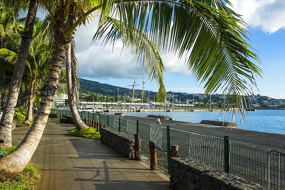 Waterfront of Papeete, Tahiti, Society Islands, French Polynesia, Pacific