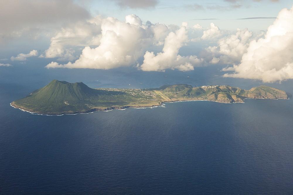 Aerial of St. Eustatius, Statia, Caribbean, Netherland Antilles - 1184-1169