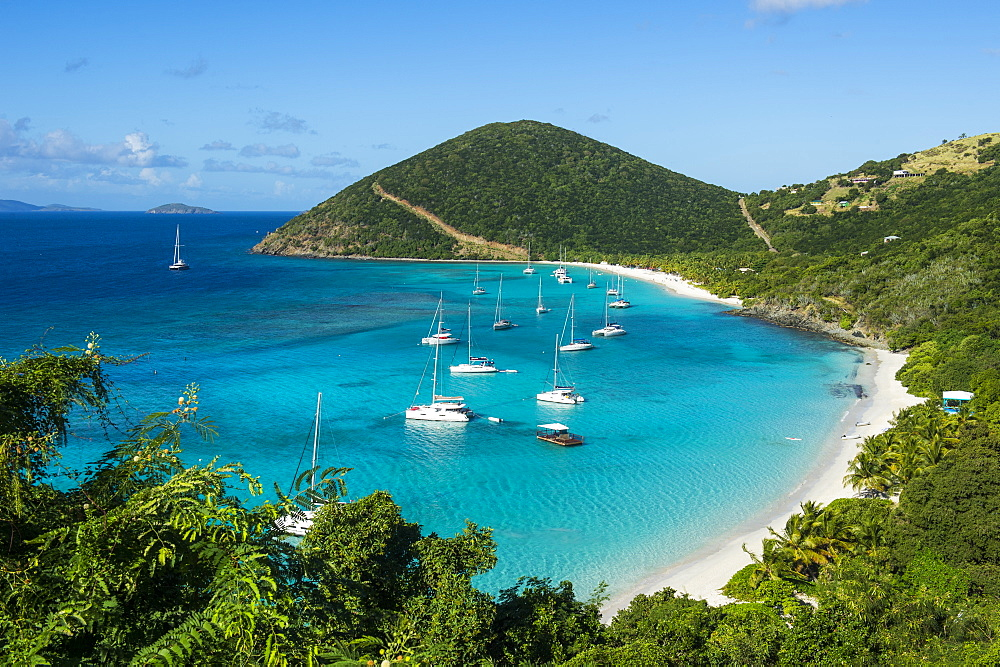 Overlook over White Bay, Jost Van Dyke, British Virgin Islands, West Indies, Caribbean, Central America