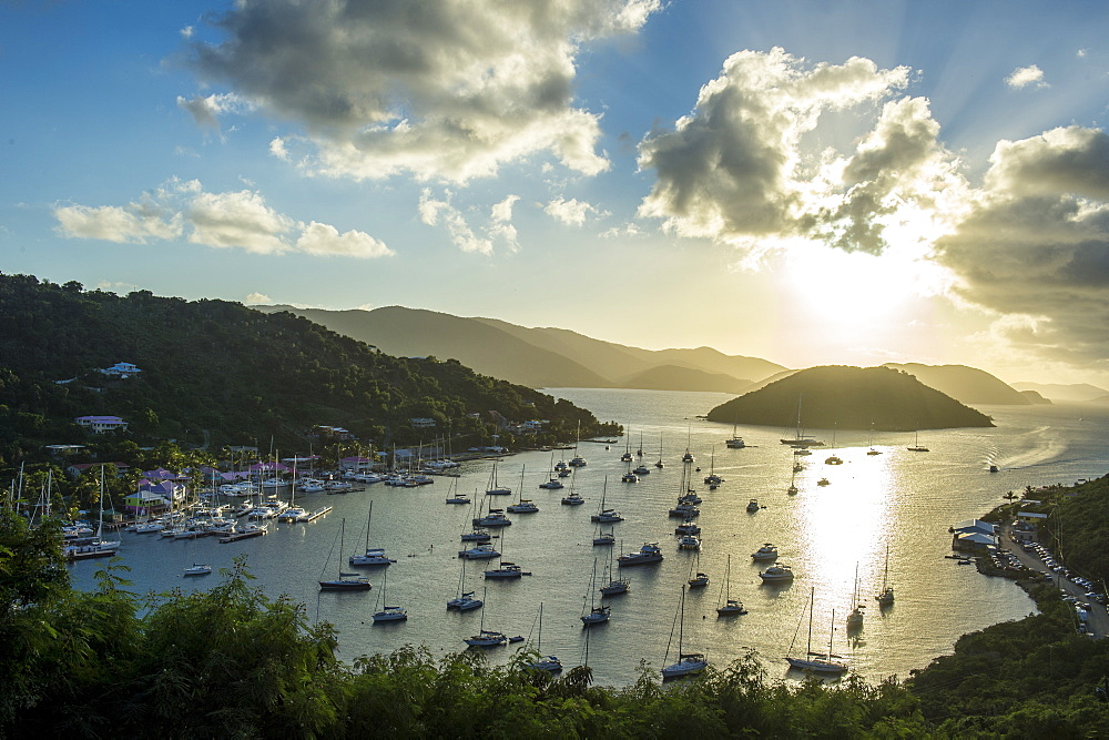 Sailing boat harbour on the West End of Tortola, British Virgin Islands, West Indies, Caribbean, Central America