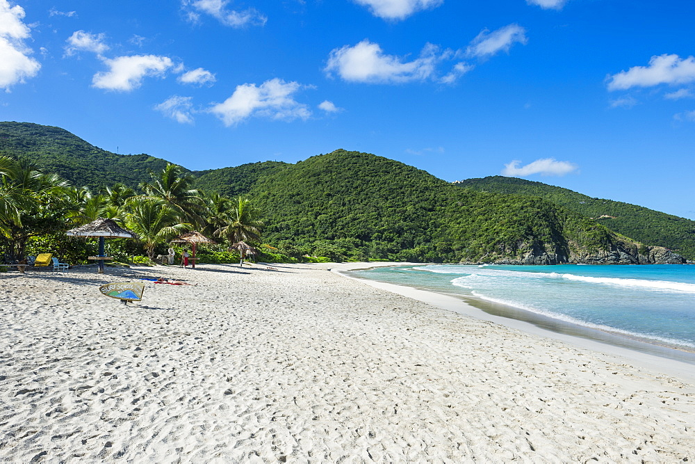 White sand beach on Josiah Bay, Tortola, British Virgin Islands, West Indies, Caribbean, Central America