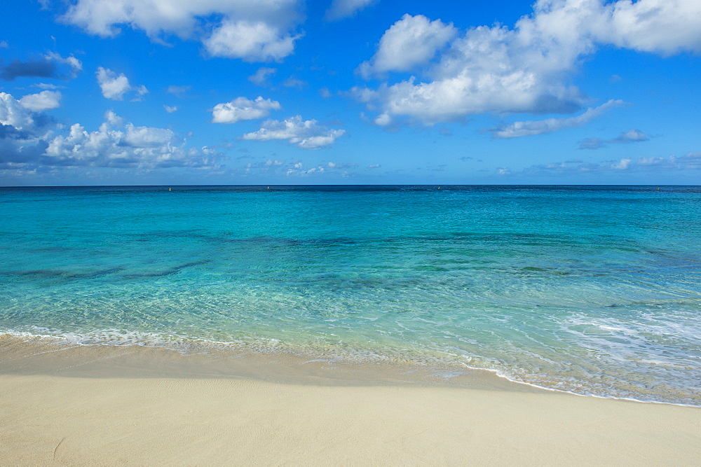 Beach at Maho Bay, Sint Maarten, West Indies, Caribbean, Central America