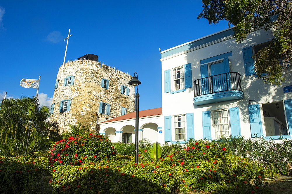 Bluebirds Castle, Charlotte Amalie, capital of St. Thomas, US Virgin Islands, West Indies, Caribbean, Central America