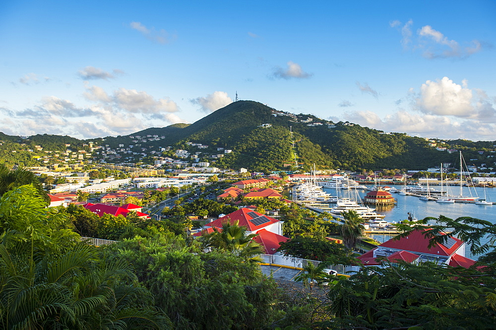 View over Charlotte Amalie, capital of St. Thomas, US Virgin Islands, West Indies, Caribbean, Central America