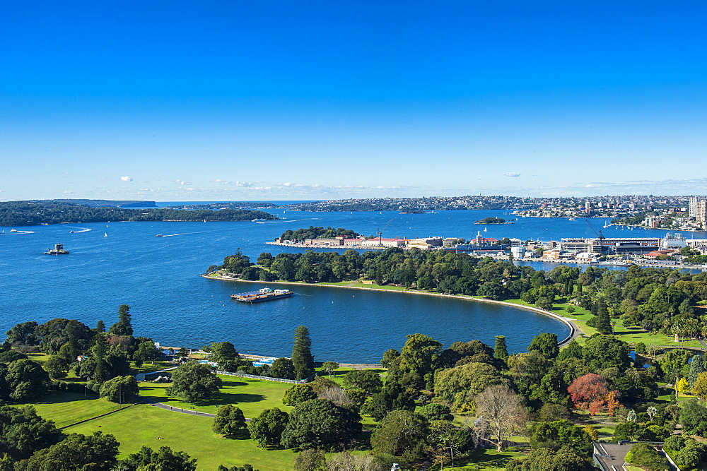 Overlook over Sydney harbour , New South Wales, Australia