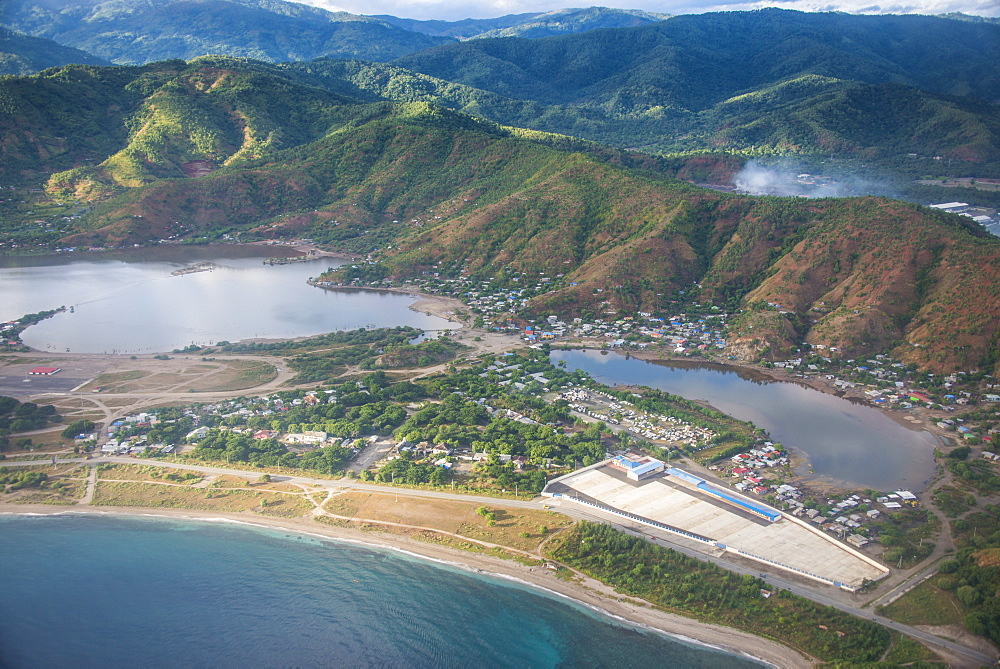 Aerial of Dili, East Timor, Southeast Asia, Asia