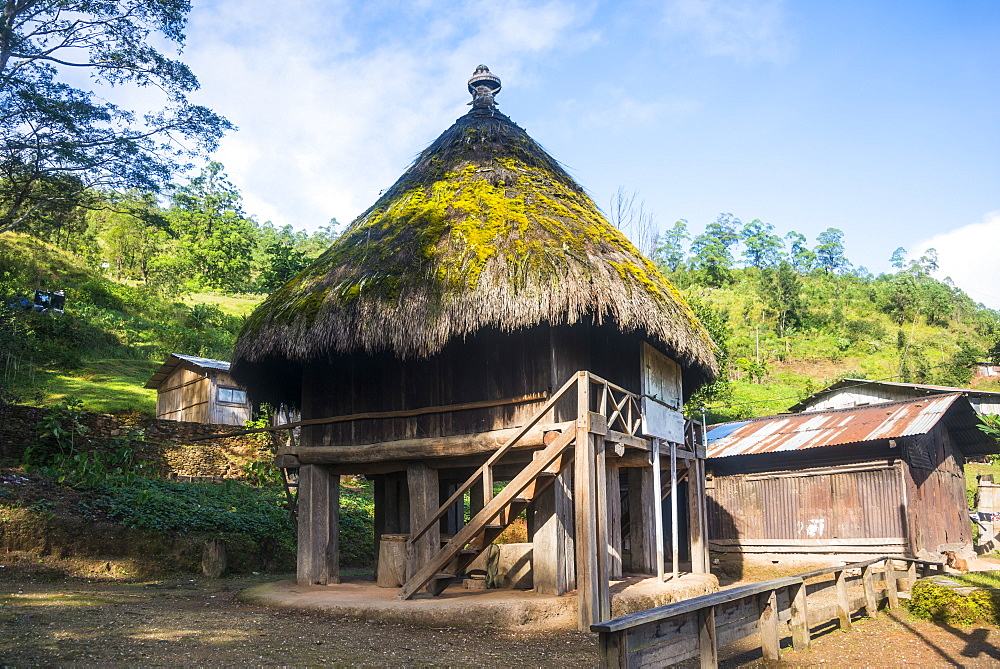 Traditional house in the mountains of Aileu, East Timor - 1184-1358
