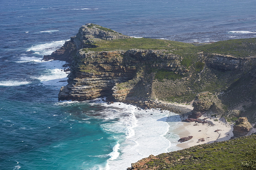 Rocky cliffs on Cape point, Cape of good hope, South Africa