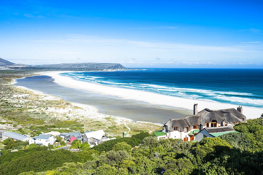 Overlook over Noordhoek beach, Chapmans peak, Cape of good hope, South Africa