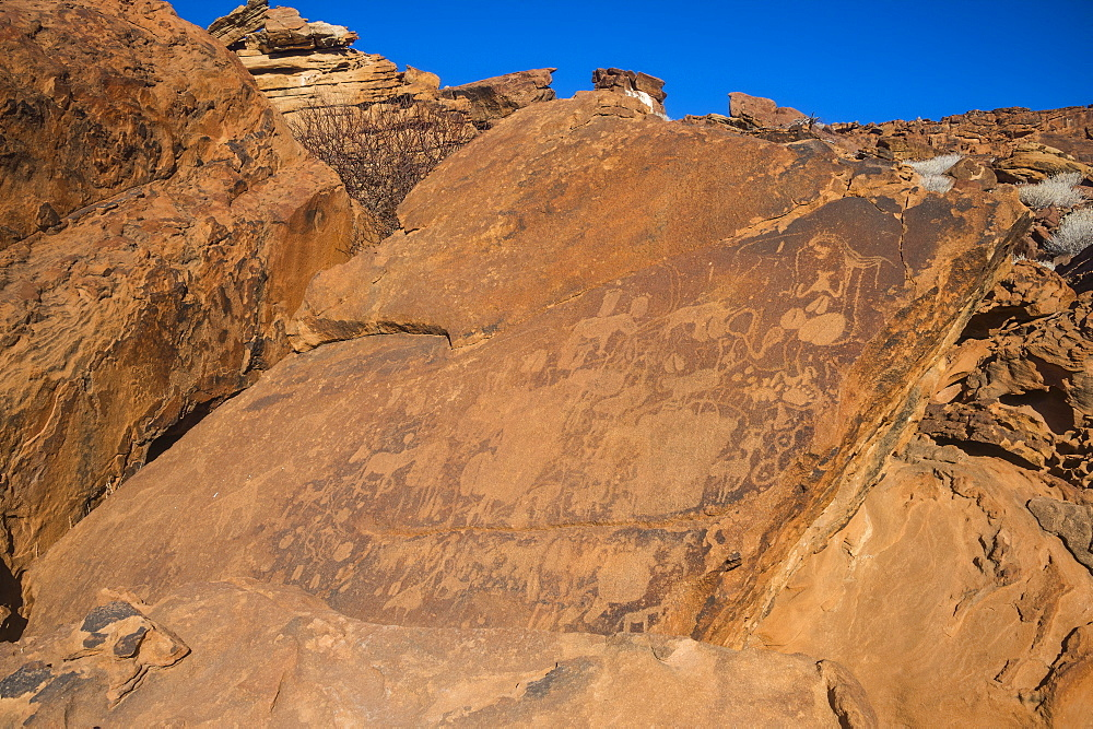 Ancient rock engravings, Twyfelfontein, UNESCO World Heritage Site, Namibia, Africa