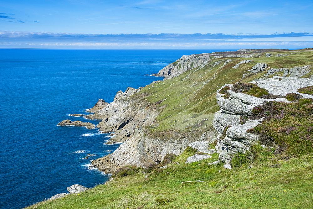 Coastline of the Island of Lundy, Bristol channel, Devon, England, United Kingdom