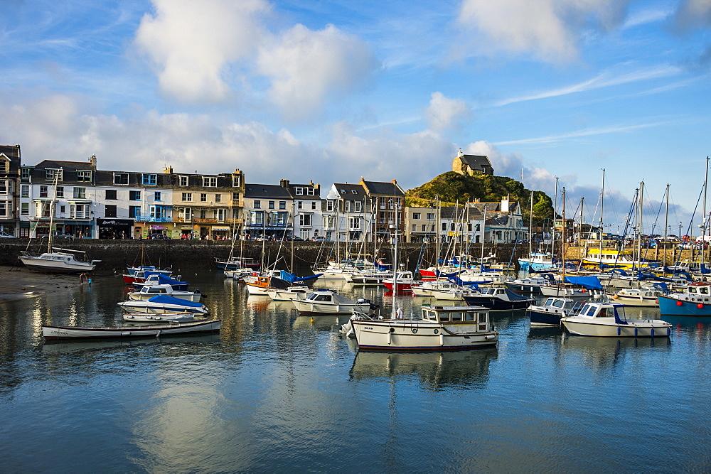 Boat harbour of Iifracombe, North Devon, England, United Kingdom