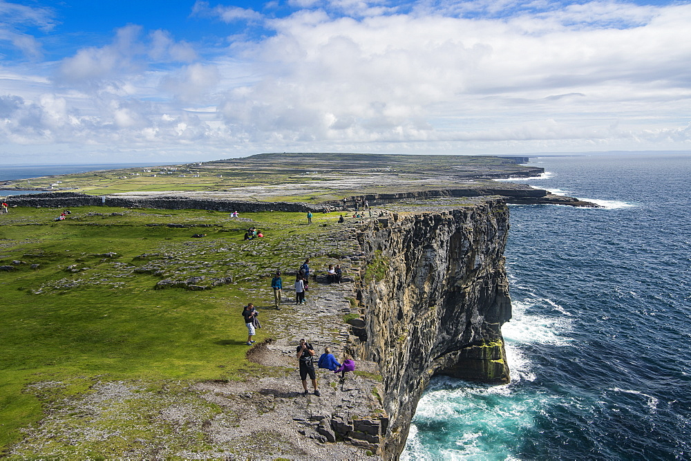 Rocky cliffs of Arainn, Aaran Islands, Republic of Ireland, Europe