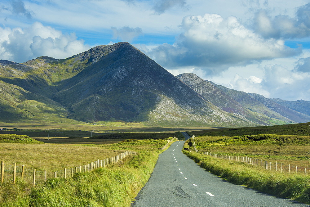 Road leading through the Connemara National Park, Republic of Ireland