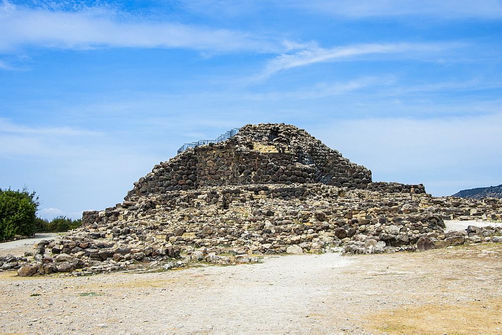 Unesco world heritage, Su Nuraxi, nuragic archaeological site in Barumini, Sardinia, Italy