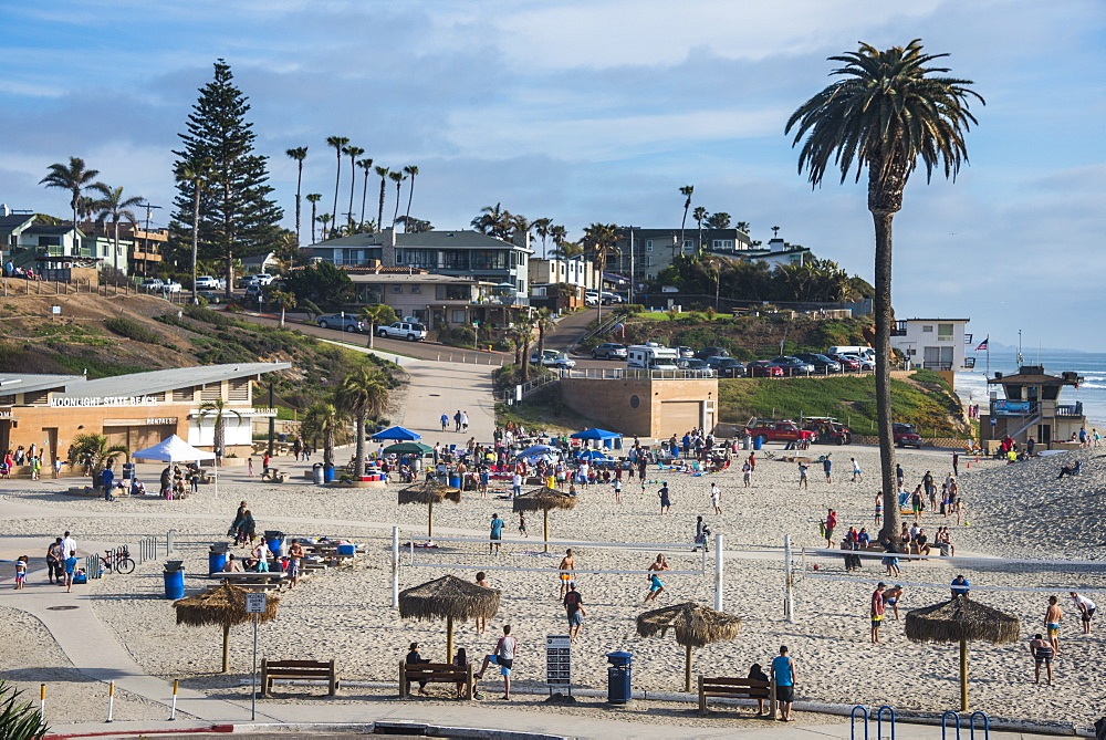 Beach of Encinitas, California, United States of America, North America