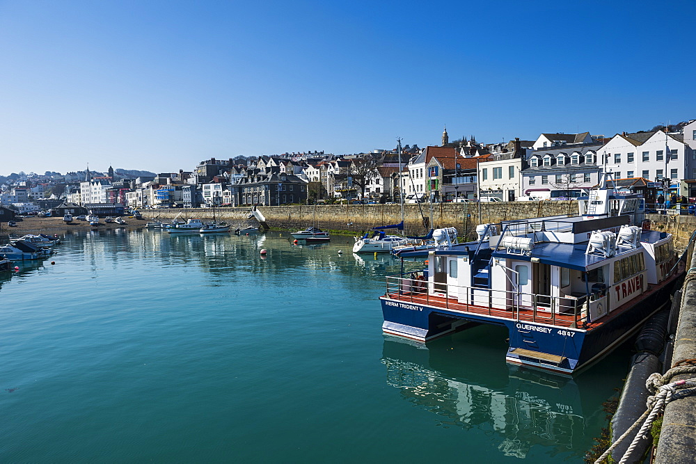 Seafront of Saint Peter Port, Guernsey, Channel Islands, United Kingdom, Europe