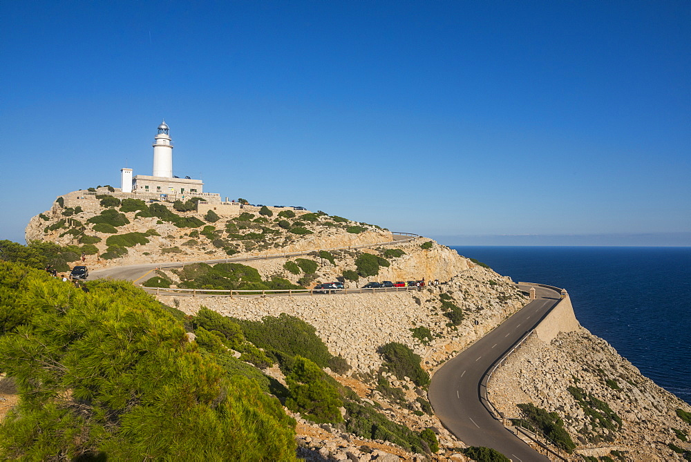 Lighthouse at Cap Formentor, Mallorca, Balearic Islands, Spain, Mediterranean, Europe
