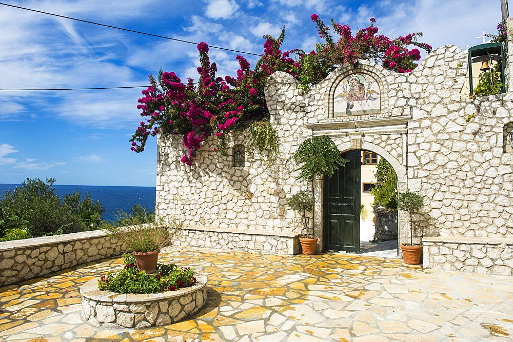 Monastery of Panagia Mirtiotissa, Corfu, Ionian islands, Greek Islands, Greece, Europe - 1184-2228