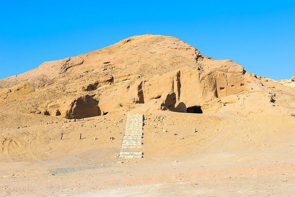 Al Bidea Nabataean cemetery, Tobuk province, Saudi Arabia, Middle East