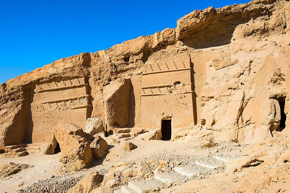 Al Bidea Nabataean cemetery, Tobuk province, Saudi Arabia