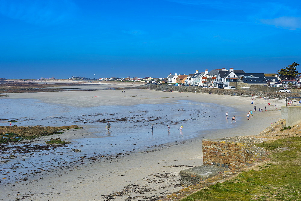 The beach of Casteret, Guernsey, Channel Islands, United Kingdom, Europe