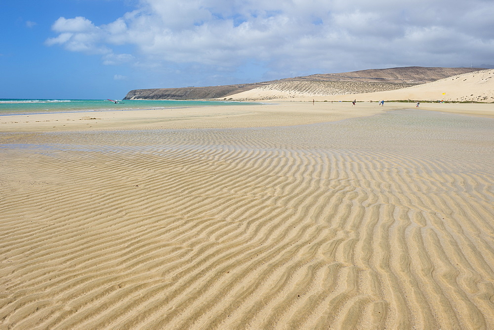 Beautiful lagoon on Risco beach, Fuerteventura, Canary islands, Spain
