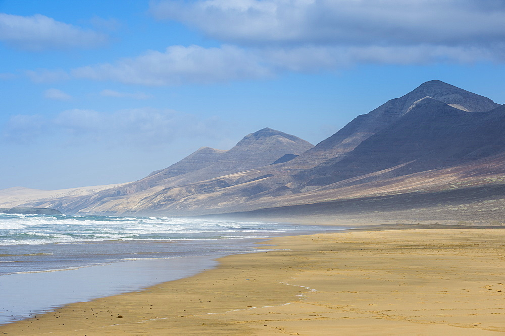 Remote Cofete beach, Fuerteventura, Canary islands, Spain