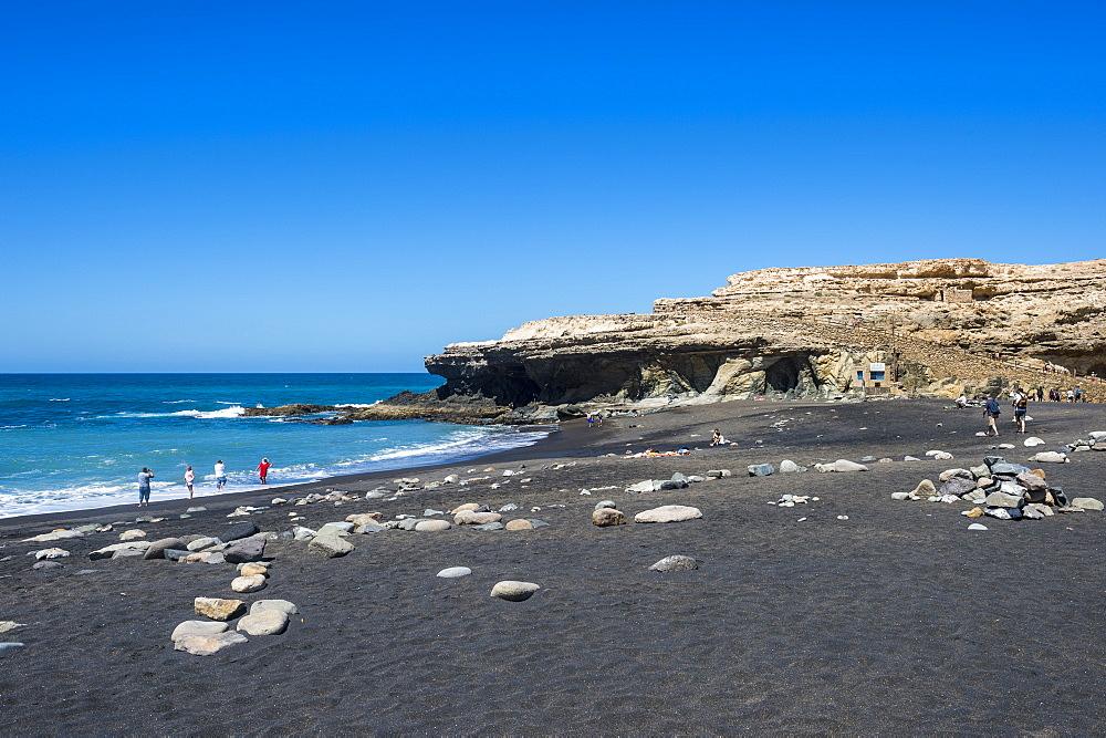 Ajuy beach, Puerto de la Pena, Fuerteventura, Canary islands, Spain