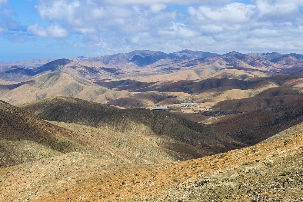 Panaoramic view over the interior of Fuerteventura, Canary islands, Spain