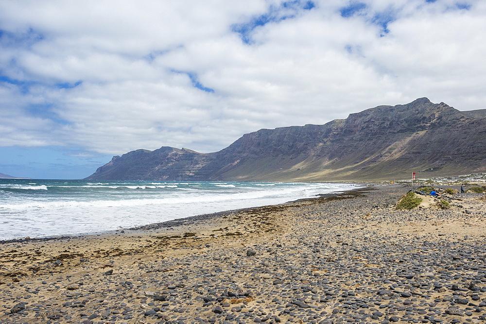 Famara Beach, Lanzarote, Canary Islands, Spain, Atlantic, Europe