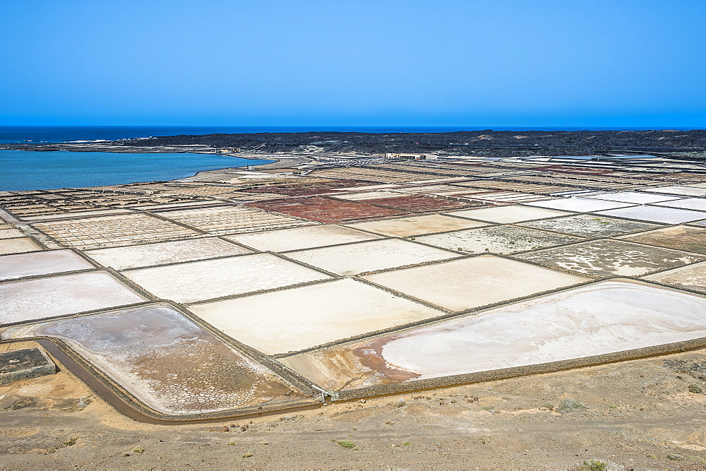 Salines (salt pans) of Janubio, Lanzarote, Canary Islands, Spain, Atlantic, Europe