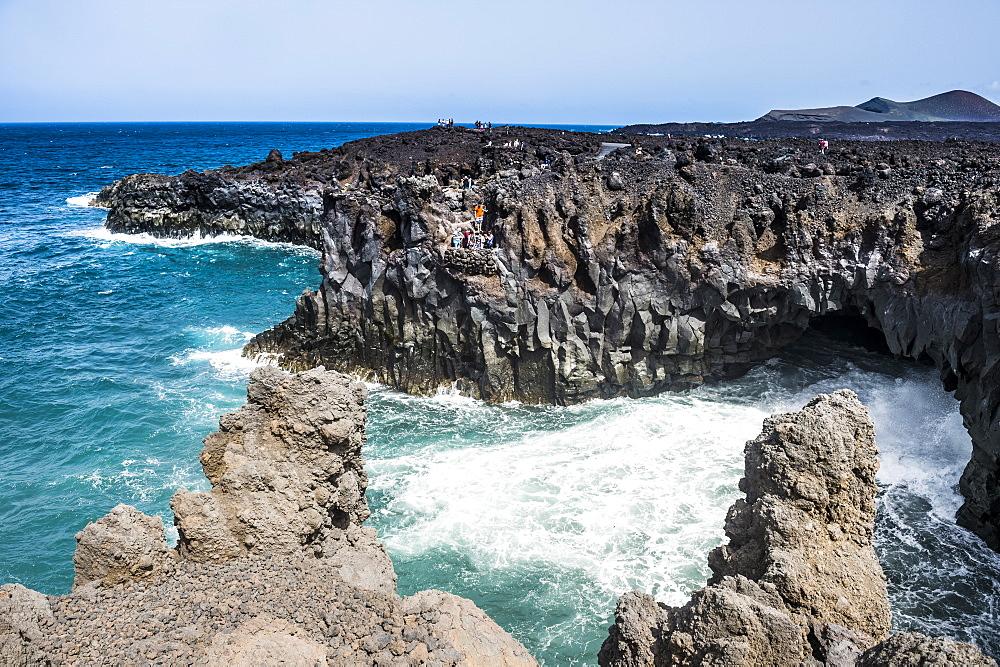 Los Hervideros lava rock coastline, Lanzarote, Canary Islands, Spain, Atlantic, Europe