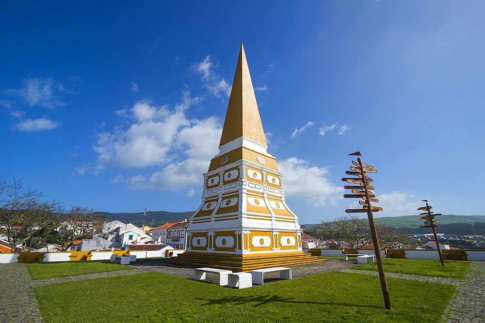 High Memory Memorial, Angra do Heroismo, UNESCO World Heritage Site, Island of Terceira, Azores, Portugal, Atlantic, Europe