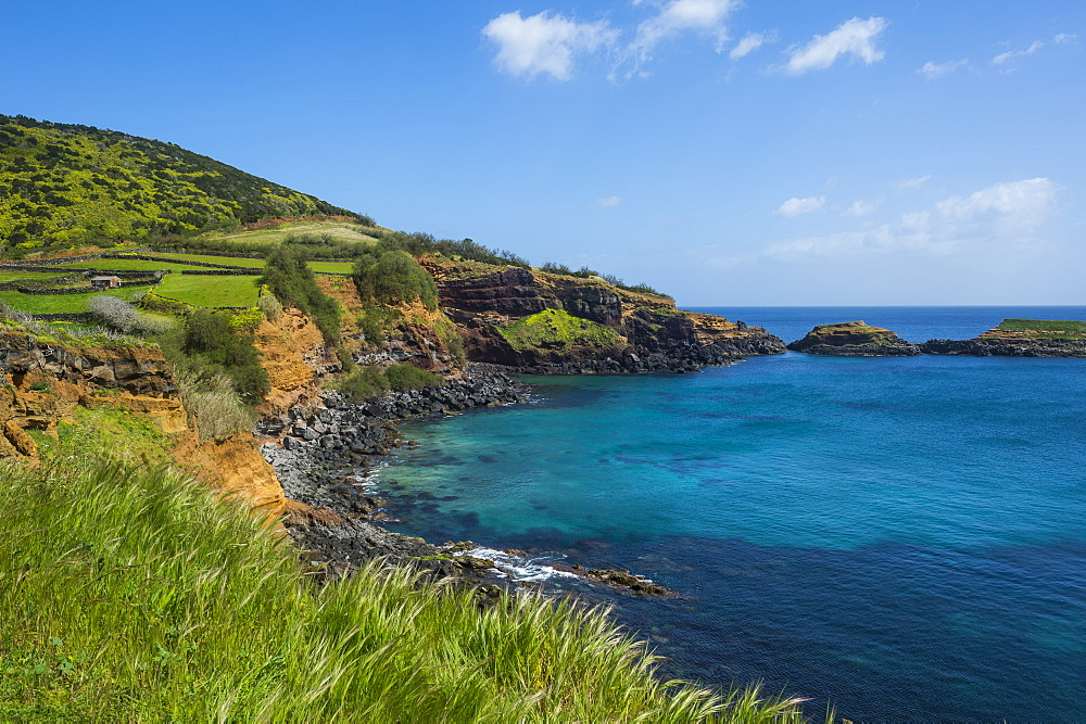 South coastline of the Island of Terceira, Azores, Portugal - 1184-2512