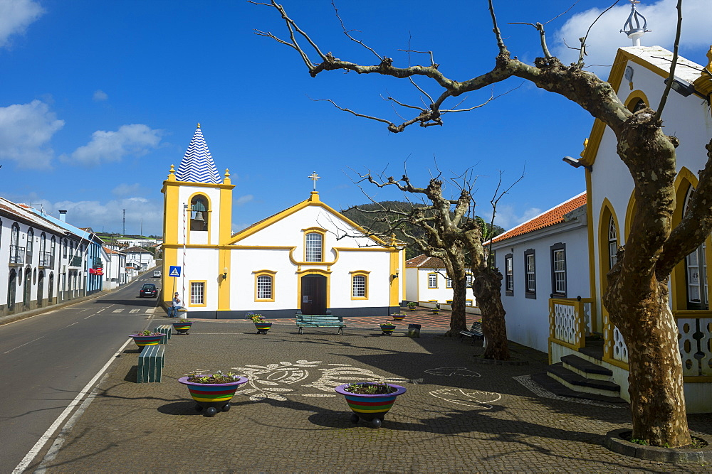 Church in Santa Barbara, Island of Terceira, Azores, Portugal, Atlantic, Europe