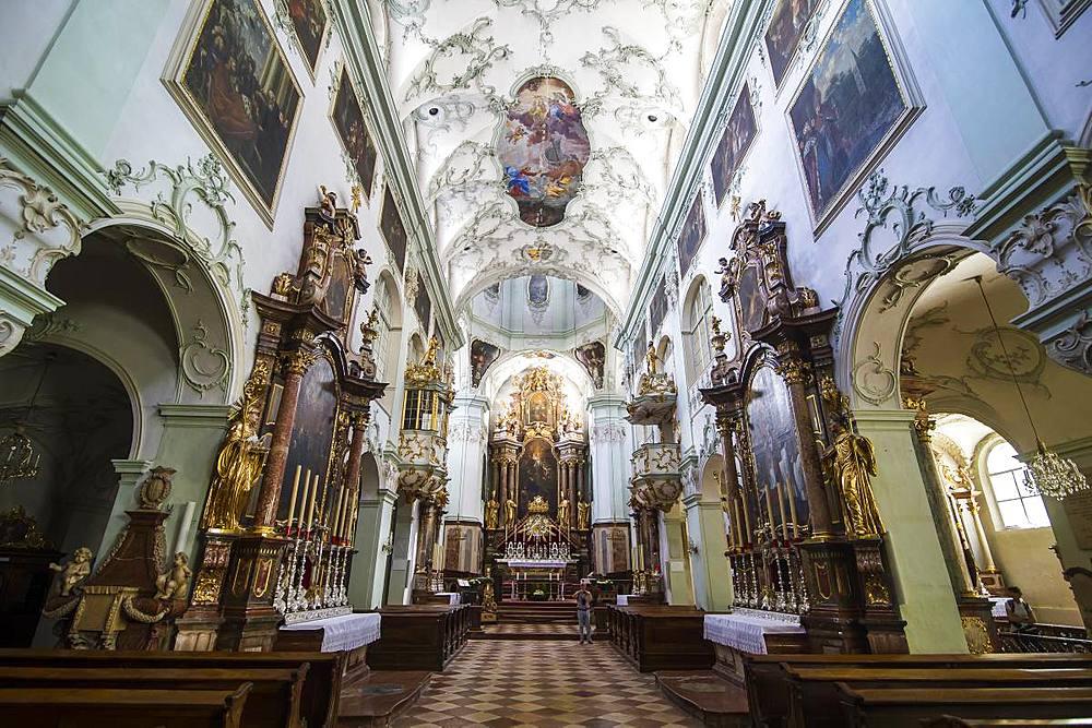 Interior of St. Peter's Abbey, Salzburg, Austria, Europe