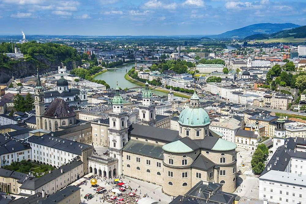 View over Salzburg, Austria, Europe