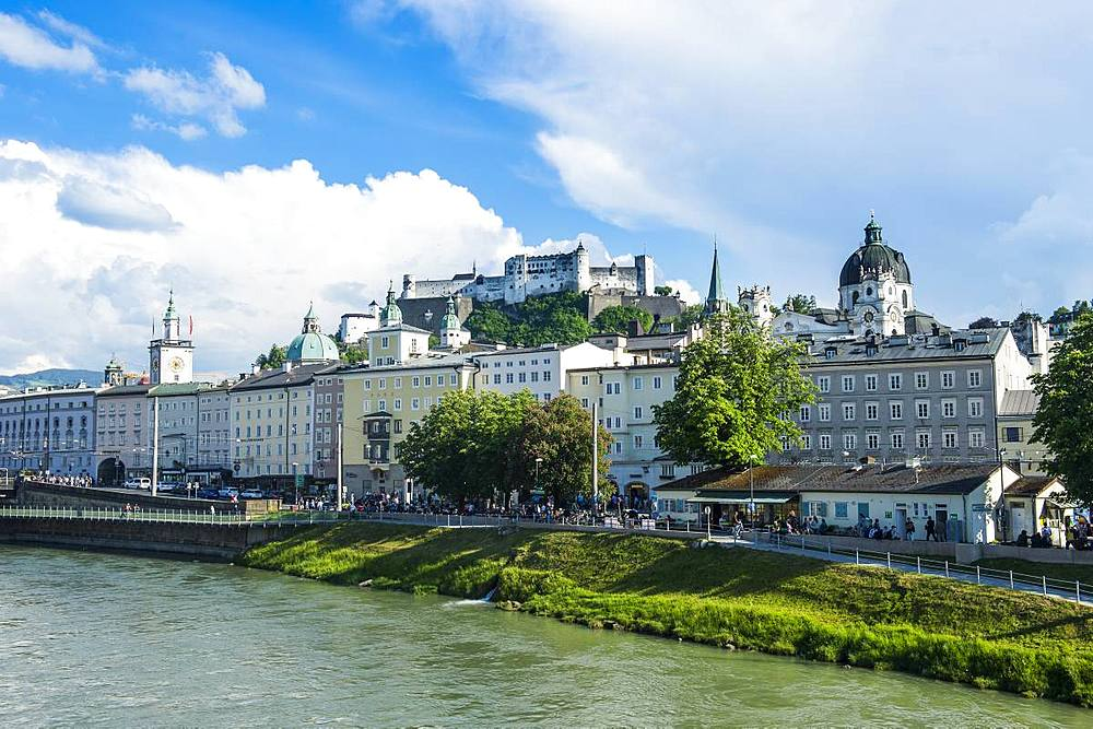 View over the old town of Salzburg, Austria, Europe