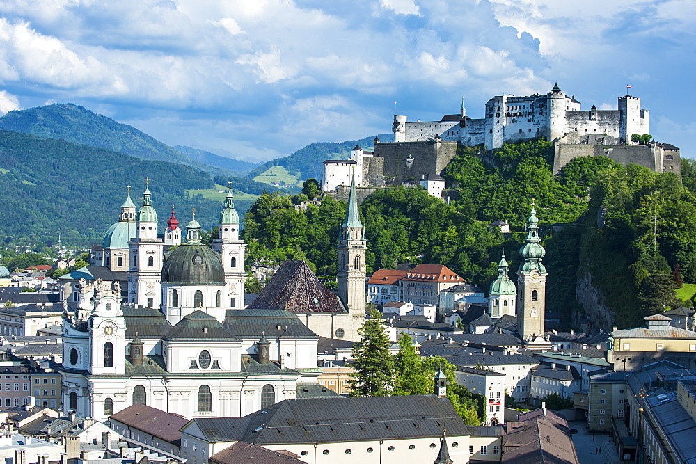 View over Salzburg, Austria, Europe