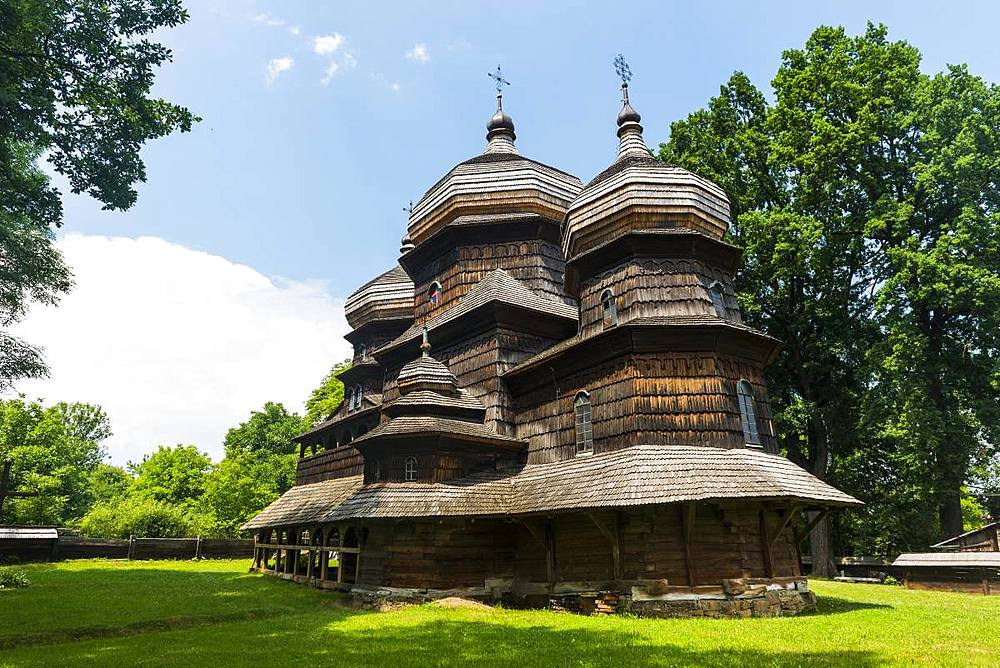 Unesco world heritage sight the wooden St. George's Church, Drohobych, Ukraine - 1184-2545