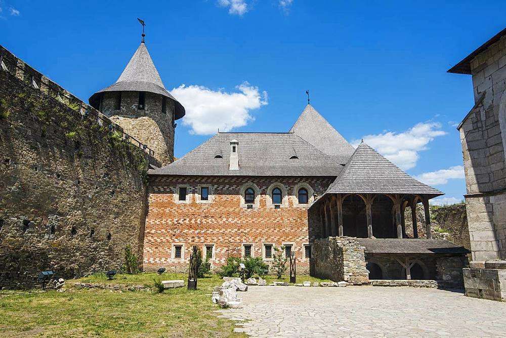 Khotyn Fortress on the river banks of the Dniester, Ukraine, Europe - 1184-2555
