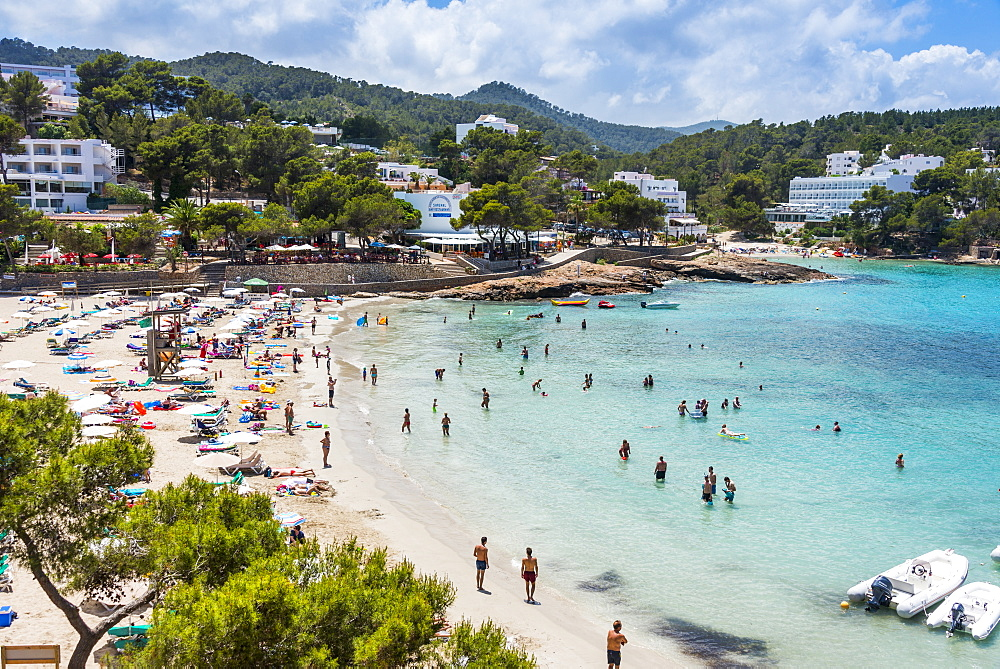 Playa De Portinatx beach, Ibiza, Spain