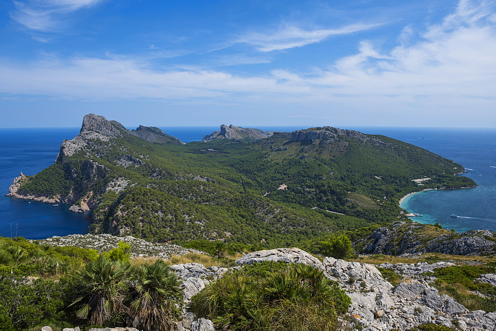 View over Cap Formentor, Mallorca, Balearic Islands, Spain, Mediterranean, Europe