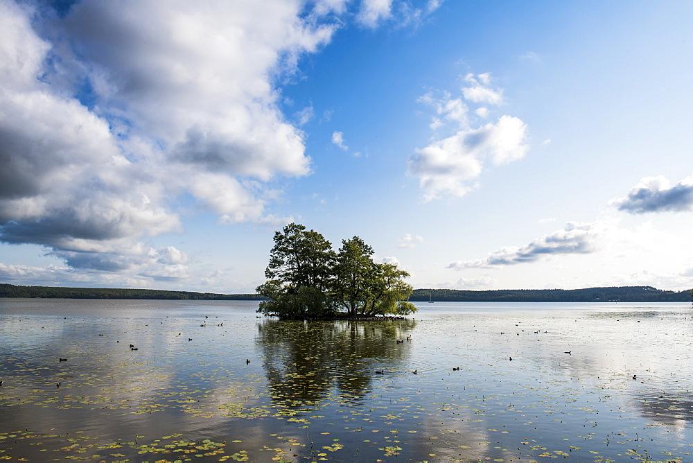 Evenin light on Malaren lake, Sigtuna, oldest town of Sweden