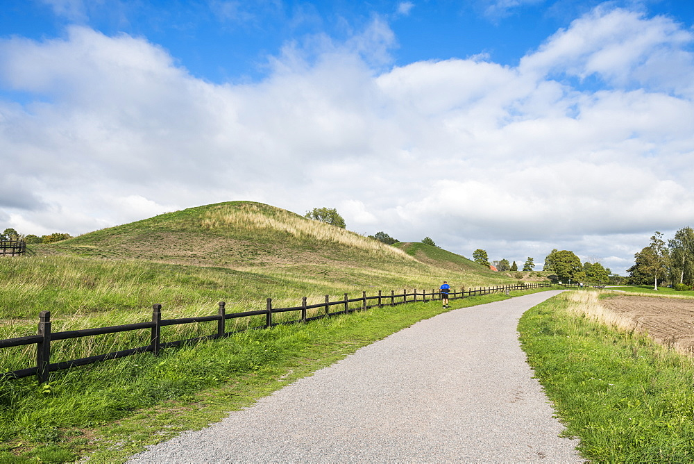 Old Viking tombs, Gamla Uppsala, Uppsala, Sweden, Scandinavia, Europe